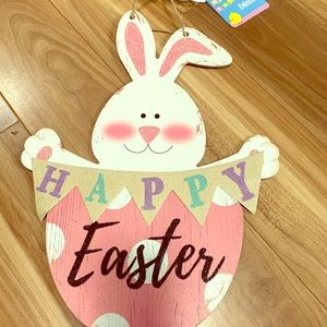 Other - Happy Easter cute bunny pastel egg rustic sign